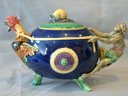minton majolica monkey & cockerel  teapot